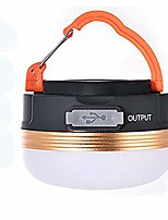 cheap -2 in 1 camping light power bank charger, waterproof portable led magnetic hanging lantern,rechargeable tent lamp with 3 modes for outdoor camping,hiking,fishing,cycling (warm white)