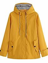 cheap -womens solid rain jacket outdoor plus waterproof hooded raincoat windproof coat(small,yellow)