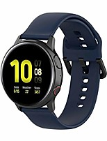 cheap -bands compatible with samsung galaxy watch active 2 40mm/ 44mm replacement silicone quick release stylish sport wrist band straps wristbands bracelet watch band(midnight blue)