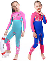 cheap -SLINX Girls' Full Wetsuit 3mm SCR Neoprene Diving Suit Thermal Warm Long Sleeve Back Zip - Swimming Diving Surfing Patchwork Spring &  Fall Winter / Stretchy / Kids