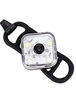 cheap -bicycle light led night cycling front headlight safety taillight running backpack warning light with battery bike lamp (color : white)