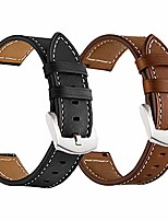cheap -galaxy watch 45mm/46mm bands, genuine leather 22mm watch strap with silver buckle compatible for samsung galaxy watch 3 45mm/46mm, gear s3 frontier/classic smartwatch brown+black (2 pack)