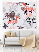 cheap -Wall Tapestry Art Deco Blanket Curtain Picnic Table Cloth Hanging Home Bedroom Living Room Dormitory Decoration Polyester Fiber Modern Animal Plant Flower Flamingo