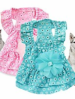 cheap -pet princess dress cat puppy cotton clothes laceflower skirt for dog summer (pink xl)