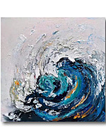 cheap -Oil Painting Hand Painted Canvas Abstract High Quality Wall Art Modern Rolled Without Frame Blue Waves