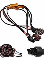 cheap -50w 6ohm error free 3157 3155 3357 4157 led light load resistor adapter fix hyper flashing blinking canbus error warning canceller for turn signal tail brake lights 2pcs