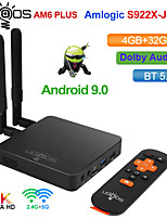 cheap -2GB+16GB UGOOS AM6 Plus Amlogic S922X-J 2.2GHZ TV BOX Android 9.0 4GB DDR4 16GB Smart TV BOX AM6 Pro S922X WiFi 1000M Set Top Box 2G 16G