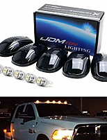 cheap -smoked lens amber led cab roof running lamps compatible with chevrolet dodge gmc ford ram nissan toyota trucks, 5-piece roof running light set