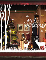 cheap -Christmas Decorations Holiday Wall Stickers Airplane Wall Stickers Holiday Wall Stickers Pvc Decoration Wall Stickers Home Decoration Wall Decals Wall Decorations 1pc