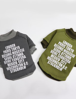 cheap -Dog Shirt / T-Shirt Letter & Number Thin fleece Casual / Daily Winter Dog Clothes Puppy Clothes Dog Outfits Breathable Green Gray Costume for Girl and Boy Dog Polyster S M L XL XXL