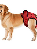 cheap -hot cute pet dog panty brief bitch in season sanitary pants for girl female (s, red)