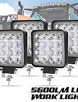 cheap -liteway 4 pcs led work light - 4 inch flood led light bar for tractor offroad 4wd truck atv utv suv driving lamp daytime running light