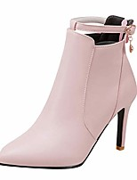 cheap -women's ankle-strap pointed-toe high heels dress boots (5.5, pink)