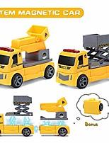 cheap -magnetic construction car diy assembled car sets for kids stem magnetic toys for kids ladder and lifter diy assembled construction vehicle set (p312 ladder + lifter)