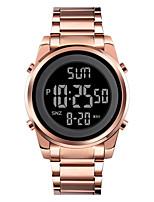 cheap -SKMEI Men's Sport Watch Digital Modern Style Stylish Outdoor Calendar / date / day Digital Rose Gold Black Gold / One Year / Stainless Steel