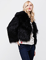 cheap -Long Sleeve Coats / Jackets Faux Fur Party / Evening / Office / Career Women's Wrap With Fur