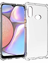 cheap -galaxy a10s case, soft tpu crystal transparent slim shockproof anti slip full-body protective phone case cover for samsung galaxy a10s (clear)