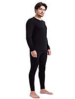 cheap -men's 100% merino wool thermal underwear long john set 260g base layer top and bottom -warm winter