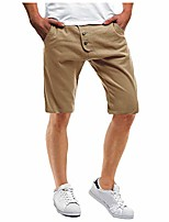 cheap -mens classic outdoor slim fit cargo shorts fashion beach board trunks athletic hiking khaki knee length pants