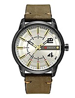 cheap -mens analog quartz watch leather strap classic simple dial design wrist watch (5)