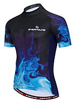 cheap -Men's Short Sleeve Cycling Jersey Black / Blue Bike Top Breathable Moisture Wicking Sports Clothing Apparel / Micro-elastic / Athleisure