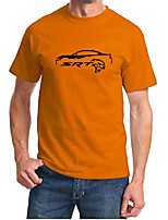cheap -dodge charger srt hellcat classic outline design tshirt 3xl orange