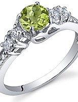 cheap -peridot solstice ring sterling silver size 9