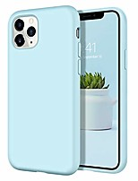 "cheap -iphone 11 pro max case slim lightweight smooth liquid silicone soft gel rubber microfiber lining cushion texture cover shockproof protective phone cases for iphone 11 pro max 6.5"", mist blue"
