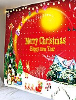 cheap -Christmas Santa Claus Holiday Party Wall Tapestry Art Decor Blanket Curtain Picnic Tablecloth Hanging Home Bedroom Living Room Dorm Decoration Christmas Tree Santa Claus and Snowman