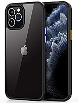 cheap -compatible with iphone 12 case, iphone 12 pro case cover [crystal clear panel] [anti-yellowing] [military drop protection] soft tpu bumper for iphone 12/12 pro 5g 6.1 inch 2020 (black)