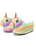 cheap -Adults' Kigurumi Pajamas Slippers Unicorn Flying Horse Onesie Pajamas Cotton Yellow Cosplay For Men and Women Animal Sleepwear Cartoon Festival / Holiday Costumes / Shoes