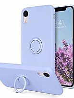 cheap -iphone xr case, slim soft silicone cover with 360° ring holder kickstand for magnetic car mount anti-scratch non-slip ptotective case for apple iphone xr 6.1 inch, purple