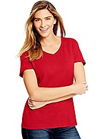 cheap -women's x-temp fresh iq tri-blend performance v-neck tee_deep red heather_2xl
