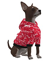 cheap -Dog Hoodie Letter & Number Merry Christmas Casual / Sporty Fashion Christmas Casual / Daily Winter Dog Clothes Puppy Clothes Dog Outfits Breathable Red Costume for Girl and Boy Dog Polyster S M L XL