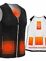 cheap -electric heated vest, blue (m)
