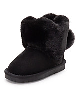 cheap -Boys' Girls' Boots Snow Boots Sheepskin Snow Boots Little Kids(4-7ys) Walking Shoes Camel Black Pink Fall Winter / Booties / Ankle Boots / TPR (Thermoplastic Rubber)