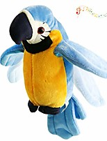cheap -talking stuffed parrot repeat what you say electronic bird speaking pet waving wings plush toy interactive animated gift for kids boys girls holiday birthday spring, 9'' (blue)