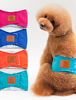cheap -Dog Dog Physiological Menstrual Pants Pet Underwear Diapers Solid Colored Cartoon Ordinary Adorable Casual / Daily Dog Clothes Puppy Clothes Dog Outfits Breathable Blue Pink Orange Costume for Girl