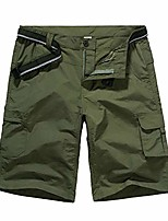 cheap -men's cargo shorts work finishing trouser outdoor quick dry active windproof convertible hiking finishing #6053 army green-34
