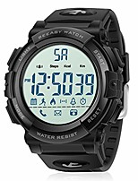 cheap -digital sport watch pedometer waterproof 51mm large face military watches with stopwatch call&app notification for men black