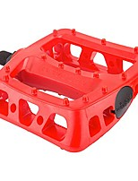 cheap -twisted pc pedals - platform composite/plastic 1/2 red