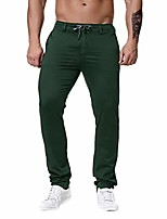 cheap -dress pants for men men's fit solid color pants casual trousers work pants green