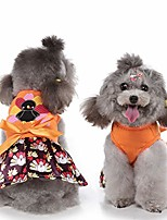 cheap -thanksgiving dog dress turkey pet skirt bowtie cats costume for cats puppy small medium dogs