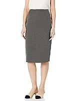 cheap -women's pin dot skimmer skirt, black/white, 8