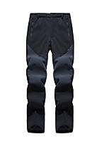 cheap -Men's Hiking Pants Trousers Patchwork Winter Outdoor Standard Fit Waterproof Windproof Fleece Lining Warm Pants / Trousers Black Army Green Grey Fishing Climbing Camping / Hiking / Caving M L XL XXL