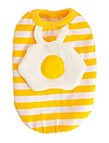 cheap -pet clothes, small dog clothes cat clothes lovely egg design pet clothes soft vest holiday halloween t shirt dog clothes for small dogs cat puppy clothes spring and summer (m-length 26cm)