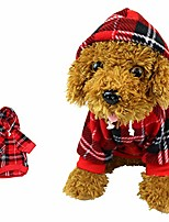cheap -red plaid dog hoodie sweatshirt,sweater for medium dogs cat puppy clothes coat warm and soft,m