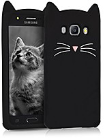 cheap -owl form black/white silicone case compatible with samsung galaxy j5 (2016) duos - soft silicone gel protective cover with cute design