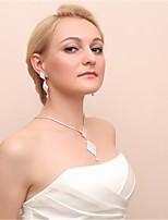 cheap -Women's Drop Earrings Necklace Earrings Jewelry White For Wedding 1 set