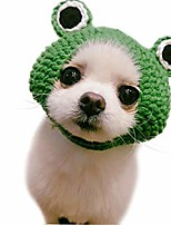 cheap -pet hat, dog cat handmade knitted woolen yarn frog cap, grooming accessories apparels for puppy teddy cartoon
